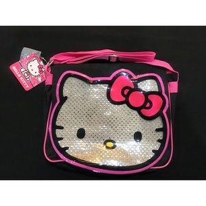 Hello Kitty Silver Black & Pink Bag